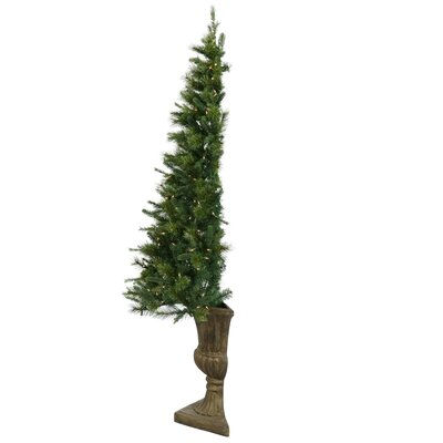 Half Potted Artificial Christmas Tree Decoration
