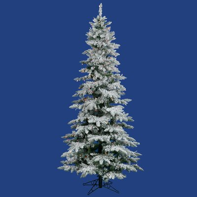 12' Slim Utica Christmas Tree with 1150 LED Multi Colored Lights with Stand