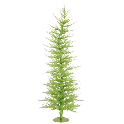 Vickerman Colorful Laser 4' Green Artificial Christmas Tree with 70 Mini Clear Lights with Stand