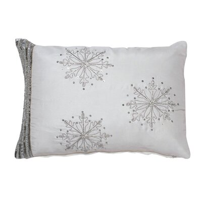 Hobson Banded Snowflake Throw Pillow