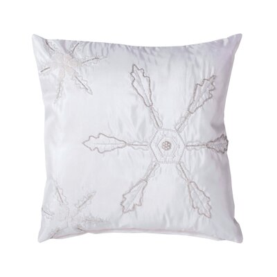 Hobson Beaded Snowflakes Throw Pillow
