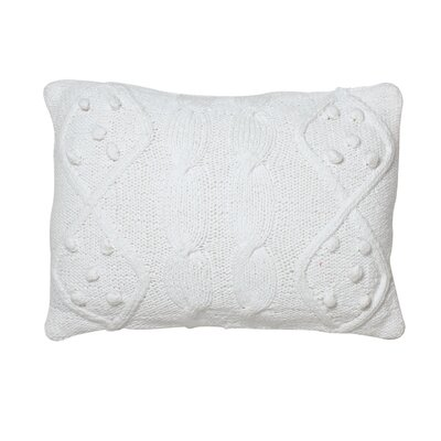 Piscium French Knot Cotton Lumbar Pillow Color: White