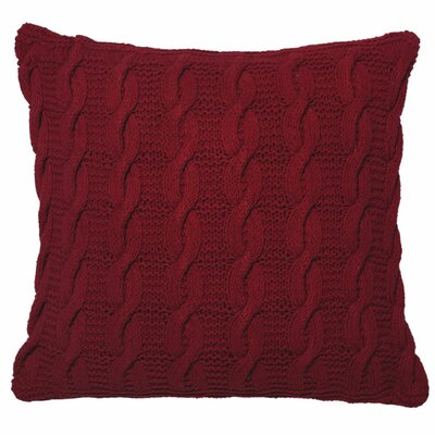 Pitchford Cable Cotton Throw Pillow Color: Red