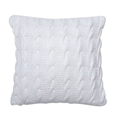 Pitchford Cable Cotton Throw Pillow Color: White
