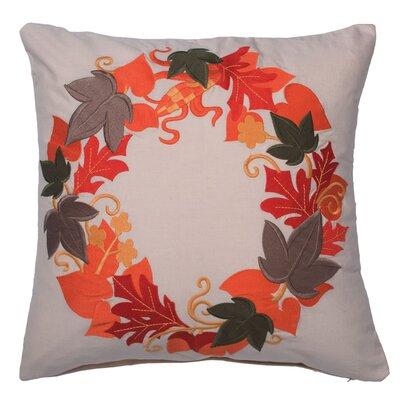 Ehlinger Harvest Wreath Cotton Throw Pillow