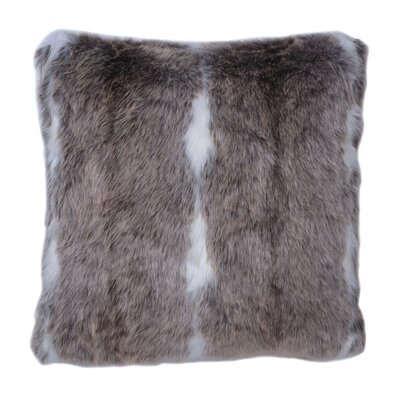 Laurenard Snow Mink Throw Pillow
