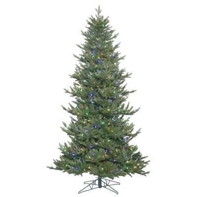 4.5' Green Fir Artificial Christmas Tree with 300 LED Multi-Colorded Lights with Stand