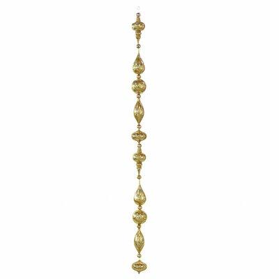 Shiny Glitter Drop Garland Color: Antique Gold
