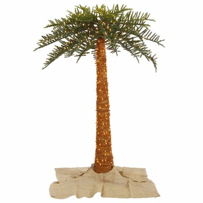 Vickerman 6' Green Outdoor Palm Artificial Christmas Tree with 500 Clear Lights