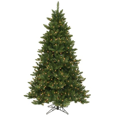 Vickerman Camdon Fir 5.5' Green Artificial Christmas Tree with 300 LED Warm White Lights with Stand