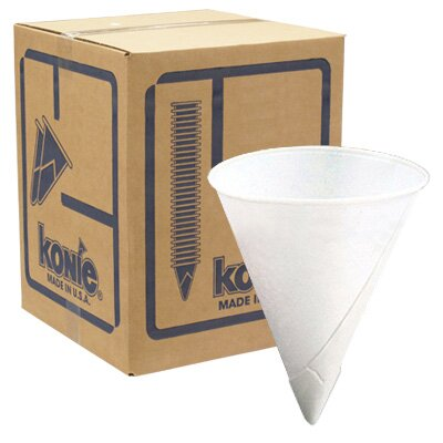 Konie 6.0 Oz Rolled Rim Cone (5000 Pack) 6.0 oz KBR