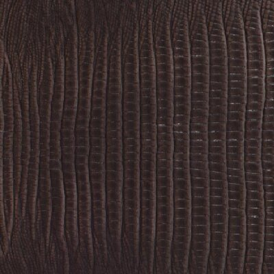 Rainforest 7-5/8 x 45-7/8 Recycled Leather Plank in Mini Gator Sienna