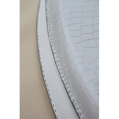 Royal Throne Patent Gator Leather Round Toilet Seat Lid Only Finish: Bianco