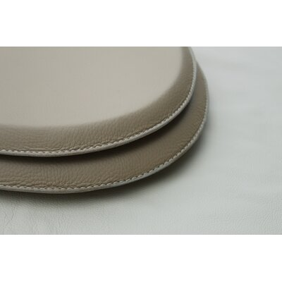 Royal Throne Leather Wrapped Round Toilet Seat Finish: Wheat