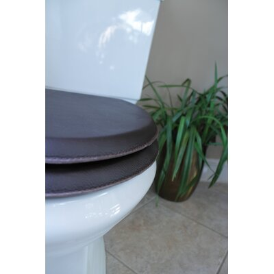 Royal Throne Leather Wrapped Round Toilet Seat Finish: Nigrine