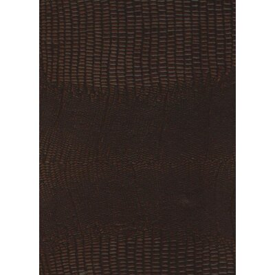 Rainforest 15-1/4 x 15-1/4 Recycled Leather Tile in Mini Gator Sienna