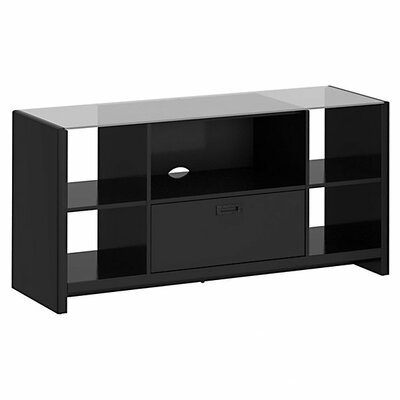 New York Skyline TV Stand Finish: Mocha