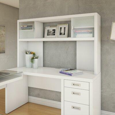 New York Skyline 35.98 x 59.88 Desk Hutch Finish: White