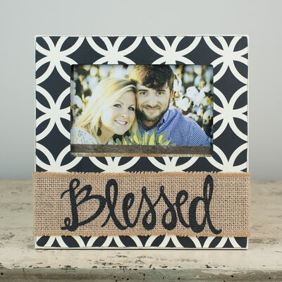 Blessed with Burlap Picture Frame