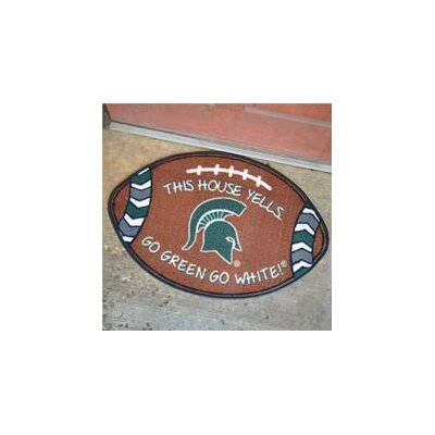 NCCA Football Indoor/Outdoor Doormat NCAA Team: Michigan State Spartans