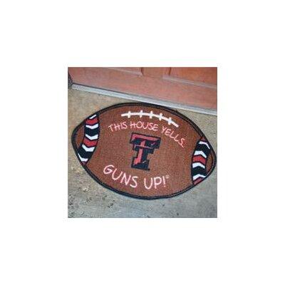 NCCA Football Indoor/Outdoor Doormat NCAA Team: Texas Tech Red Raiders