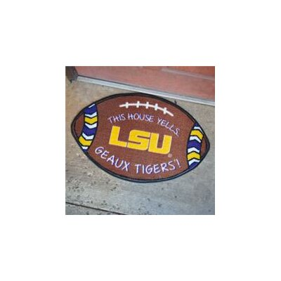 NCCA Football Indoor/Outdoor Doormat NCAA Team: LSU Tigers