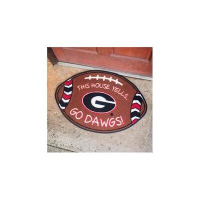 NCCA Football Indoor/Outdoor Doormat NCAA Team: Georgia Bulldogs