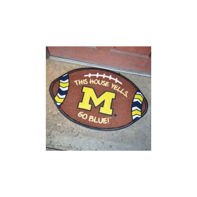 NCCA Football Indoor/Outdoor Doormat NCAA Team: Michigan Wolverines