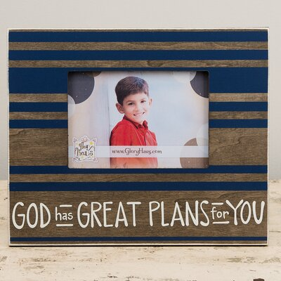 God Has Great Plans Picture Frame 3080210