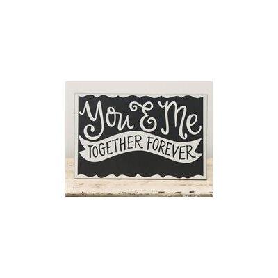 'You & Me' Textual Art on Wood 3390109