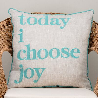 Today I Choose Joy Cotton Throw Pillow