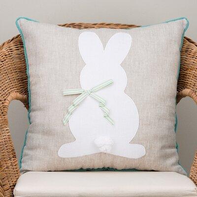 Bunny Silhouette Cotton Throw Pillow