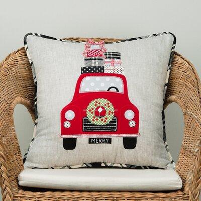 Merry Car Cotton Throw Pillow