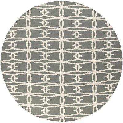 Fallon Iron Ore Area Rug Rug Size: Round 8