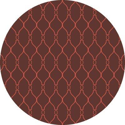 Fallon Hot Cocoa Area Rug Rug Size: Round 8