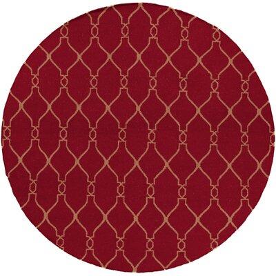 Fallon Carmine Area Rug Rug Size: Round 8