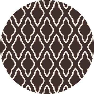 Fallon Espresso Area Rug Rug Size: Round 8