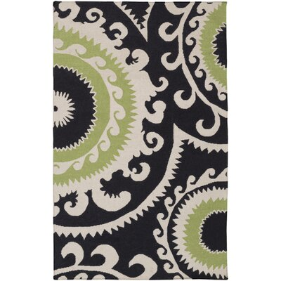 Fallon Black & Light Gray Ikat Area Rug Rug Size: Rectangle 8 x 11