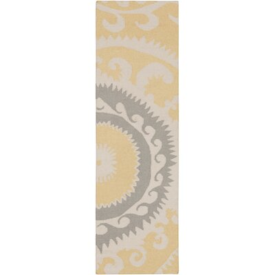 Fallon Gold Ikat/Suzani Area Rug Rug Size: Rectangle 2 x 3