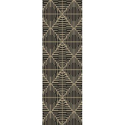 Bjorn Beige/Chocolate Area Rug Rug Size: Runner 26 x 8