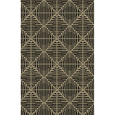 Bjorn Beige/Chocolate Area Rug Rug Size: Rectangle 33 x 53