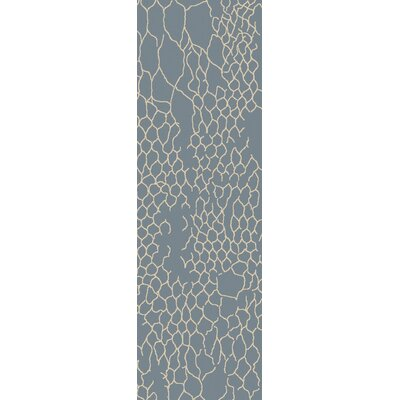 Bjorn Beige/Teal Area Rug Rug Size: Runner 26 x 8