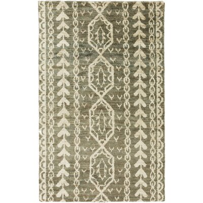 Bjorn Mocha/Olive Area Rug Rug Size: Rectangle 2' x 3'