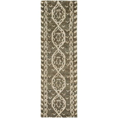 Bjorn Charcoal/Ivory Area Rug Rug Size: Runner 26 x 8