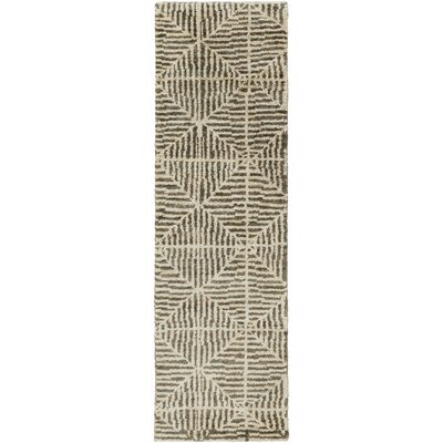 Bjorn Chocolate/Ivory Area Rug Rug Size: Runner 26 x 8