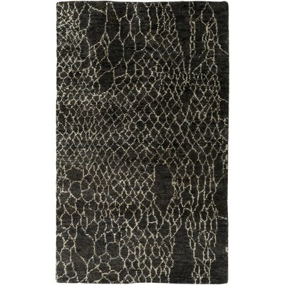 Bjorn Black Area Rug Rug Size: Rectangle 33 x 53