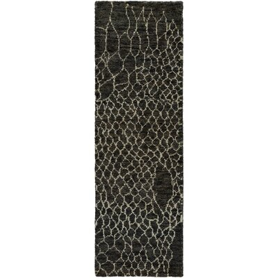 Bjorn Charcoal Area Rug Rug Size: Runner 26 x 8