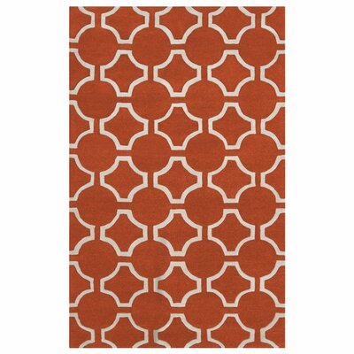 Zuna Geometric Poppy Area Rug Rug size: Rectangle 8 x 11