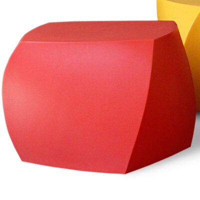 Frank Gehry Left Twist Ottoman Upholstery: Red