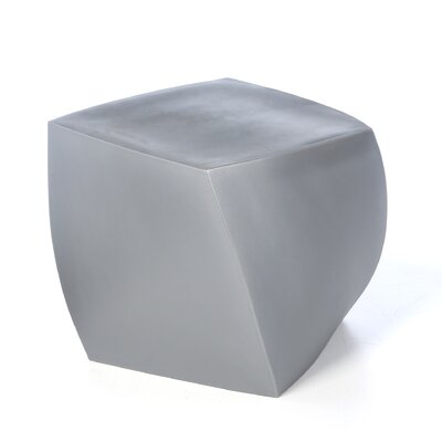Frank Gehry Right Twist Cube Ottoman Upholstery: Black